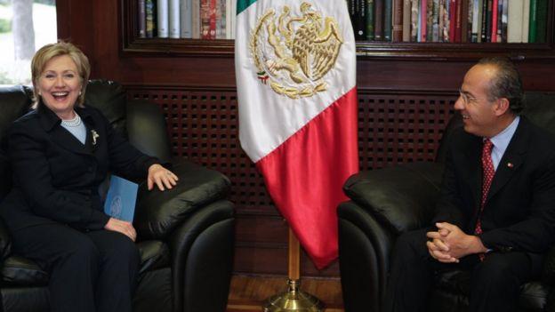 Clinton y Calderón