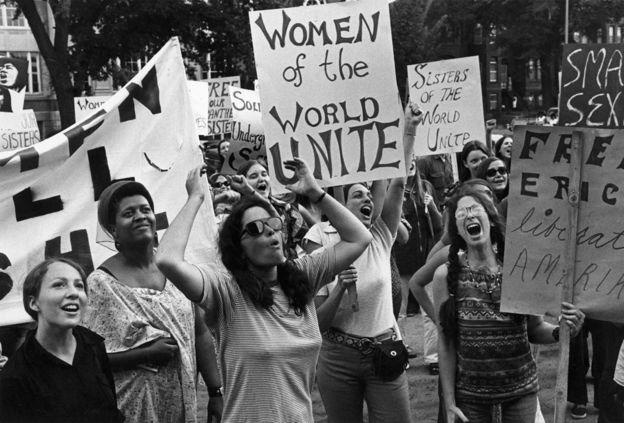 Movimento de Liberação das Mulheres em Washington, nos Estados Unidos, em 26 de agosto de 1970