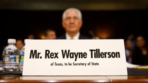 Rex Tillerson en el Senado
