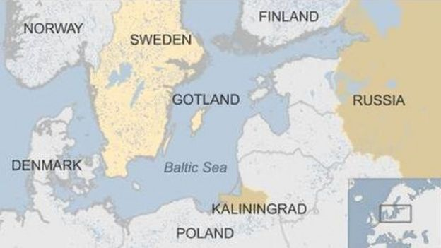 Sweden/Baltic map