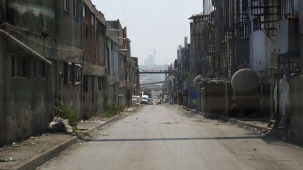 Área de fábricas en Estambul