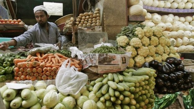 Market trader in Bangalore