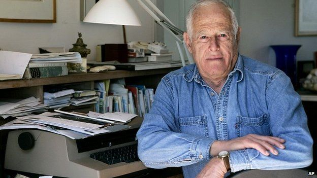 James Salter at his home in Bridgehampton, New York - 30 March 2005