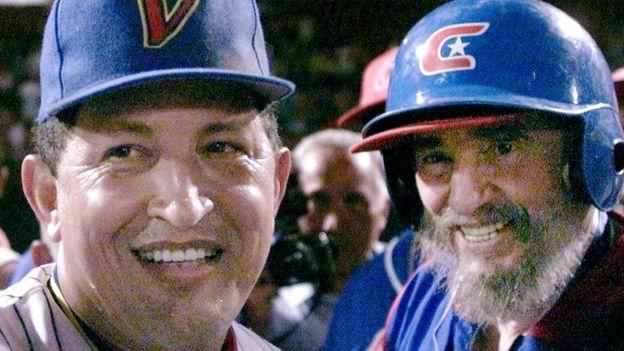 Hugo Chávez y Fidel Castro.