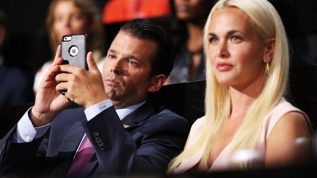 Donald hijo y Vanessa Trump