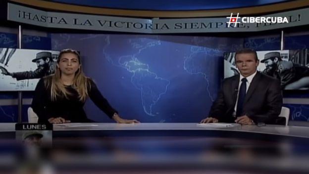 Presentadores de la televisión cubana.