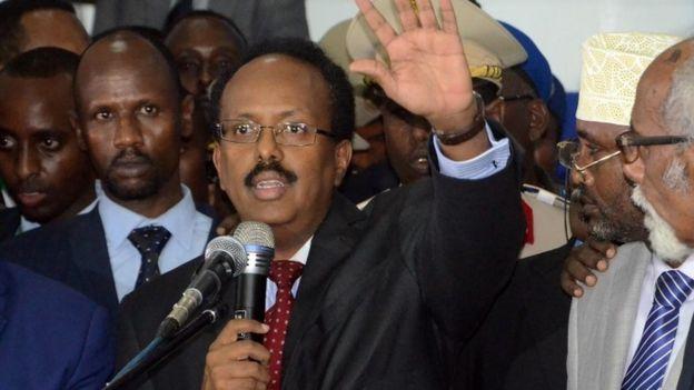 Mohamed Abdullahi Mohamed speaking