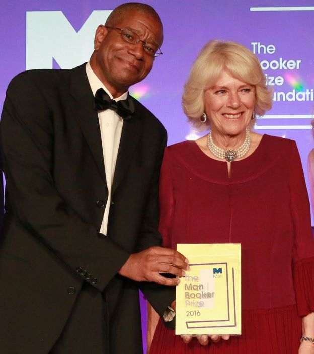 Paul Beatty with the Duchess of Cornwall