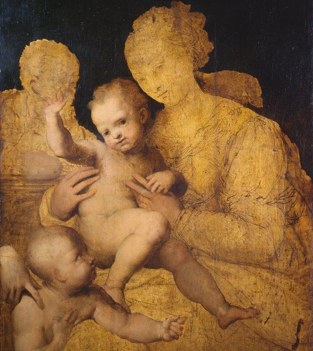 Perino del Vaga's Holy Family with Saint John the Baptist (1528-37)