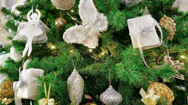 Detalhe de árvore de Natal