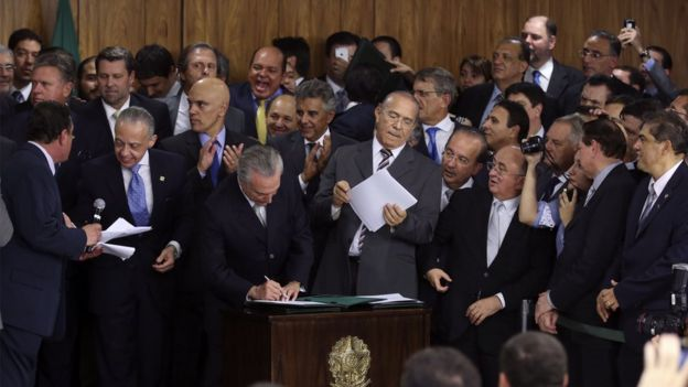 Cerimônia de posse de Michel Temer como presidente do Brasil