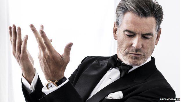 Pierce Brosnan wearing a Speake-Marin watch