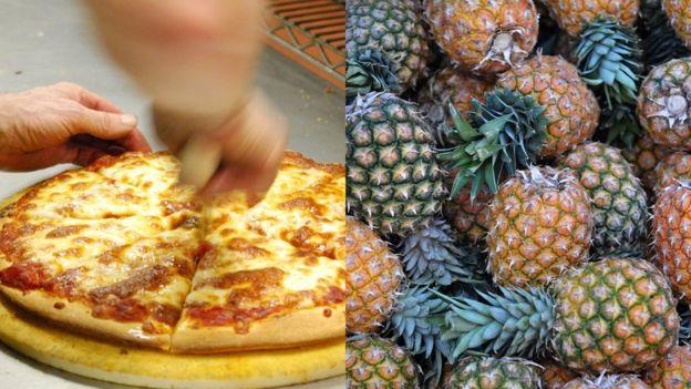 Piña en la pizza o así no más
