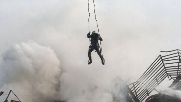 آتش سوزی ساختامن پلاسکو