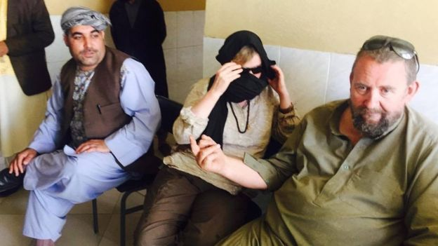 Image of the some of the wounded foreign tourists in Chesht-i-Sharif district of western Herat province on Thursday