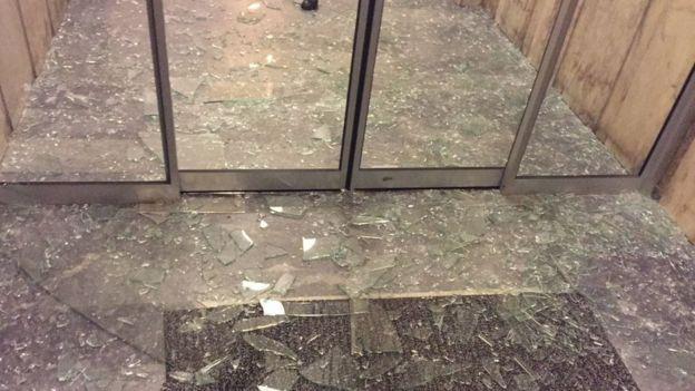 Patlama sonrası cam kırıkları