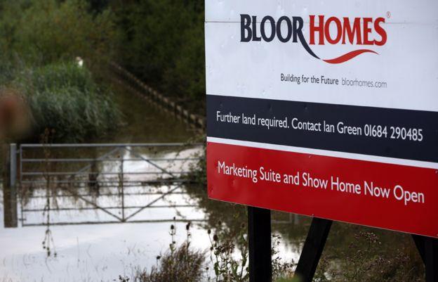 New homes near a flood plain