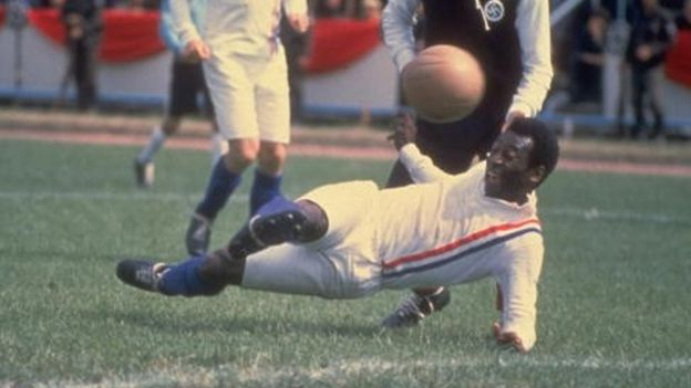 Pele in film Escape to Victory