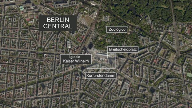 Mapa Berlín