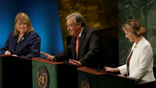 Antonio Guterres hablando durante un debate en la Asamblea General de Naciones Unidas.