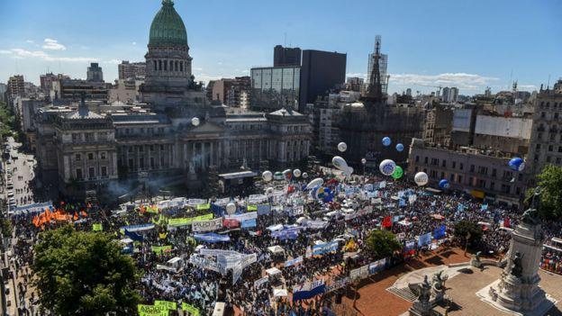 protesta contra Macri