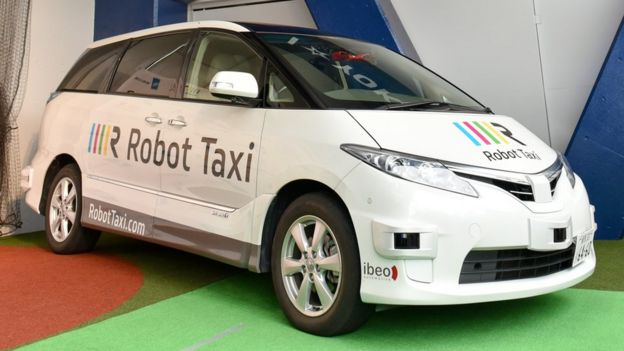 The Japanese robot taxis will drive on public roads next year