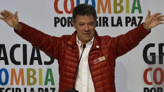 Juan Manuel Santos durante la campaña presidencial en 2014.