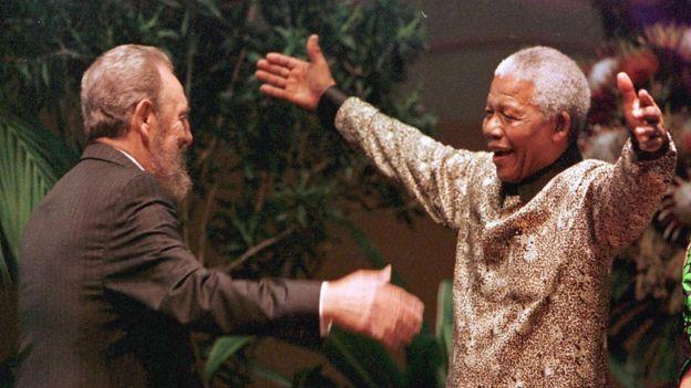 Fidel Castro y Nelson Mandela