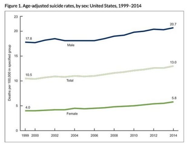CDC chart on suicides