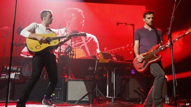 Coldplay performed at SXSW in Austin, Texas in March