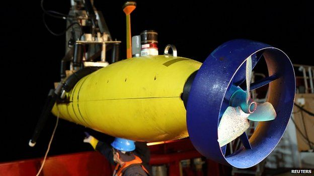 The robotic submarine Bluefin-21 has searched the sea floor but has so far found nothing