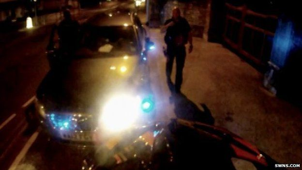The videos show Lewis Shallcross, 20, from Plymouth, speeding, jumping red lights and pulling wheelies