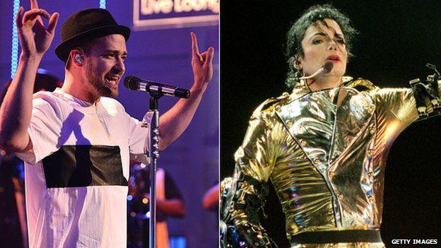 Justin Timberlake and Michael Jackson