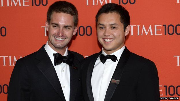 Snapchat co-founders Evan Spiegel and Bobby Murphy were named on this year's Time 100 list