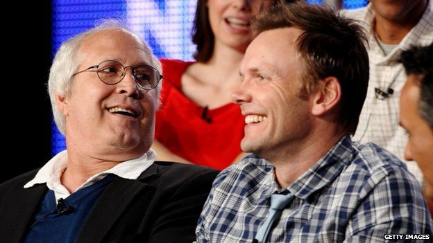 Chevy Chase and Joel McHale