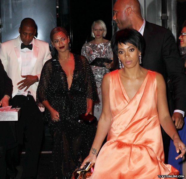 Jay Z, Beyonce and Solange Knowles