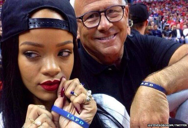 Rihanna and Steve Soboroff