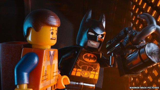 Batman and another character from the Lego Movie