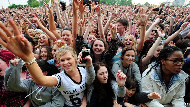 Crowds at Big Weekend