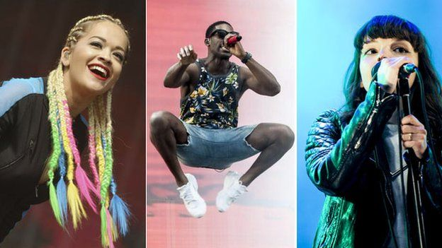 Rita Ora, Tinie Tempah and Chrvches