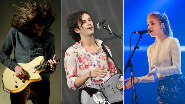 You Me At Six, The 1975 and London Grammar (left-right) all performed on Sunday