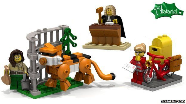 Three female professional Lego minifigures