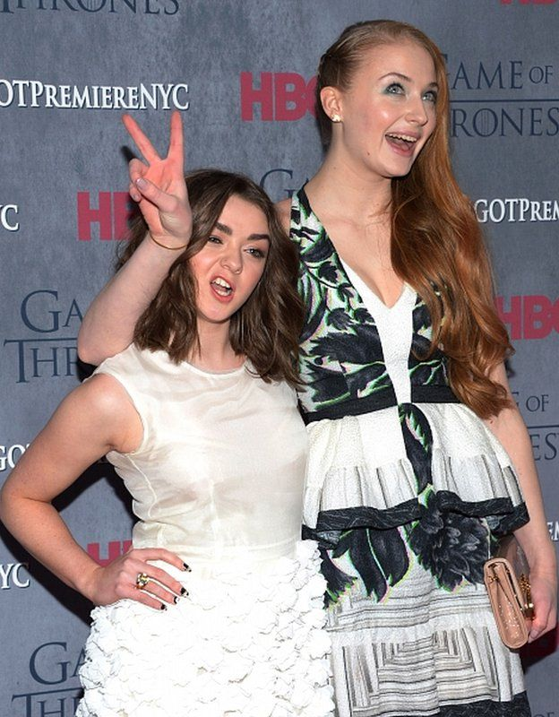 Maisie Williams and Sophie Turner star in Game of Thrones