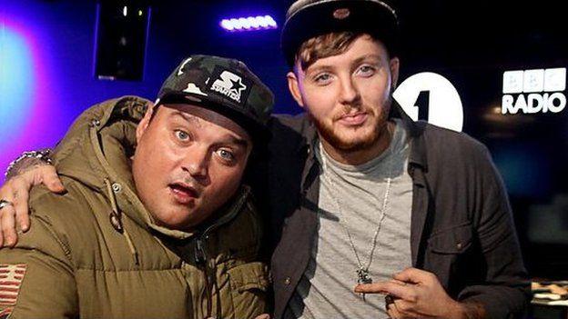 James Arthur with 1Xtra DJ Charlie Sloth