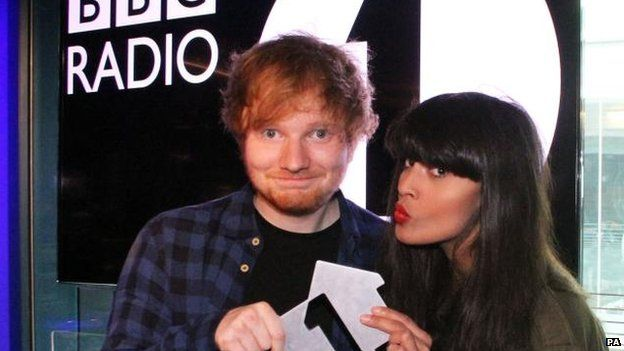 Ed Sheeran and Jameela Jamil