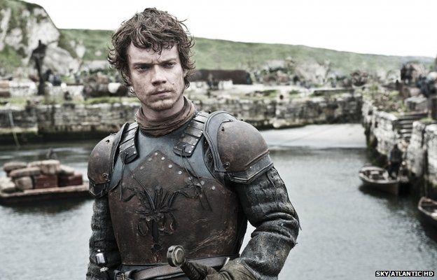 Alfie Allen plays Theon Greyjoy