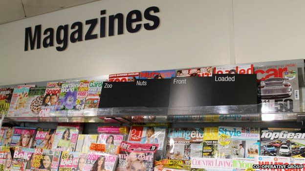 Magazines on Co-op's shelves