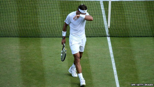World number one Rafael Nadal loses the men's singles fourth round match at Wimbledon to Nick Kyrgios