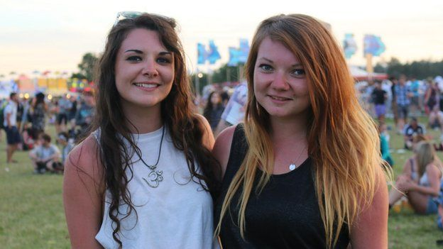 Rachel Tivnann and Sarah Bowie who are 20 and from Brighton