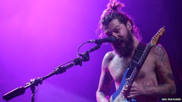 Biffy Clyro on stage closing the first night at T in the Park